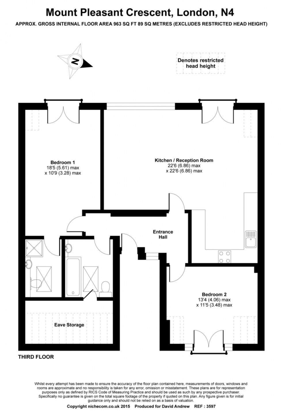 Floorplan for Mount Pleasant Crescent N4 4HW