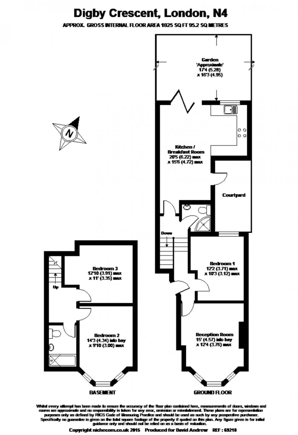 Floorplan for Digby Crescent, N4 2HS