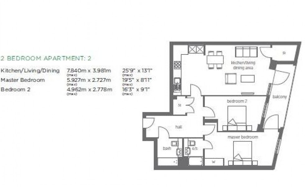 Floorplan for Eagle Heights Waterside Way N17 9QQ