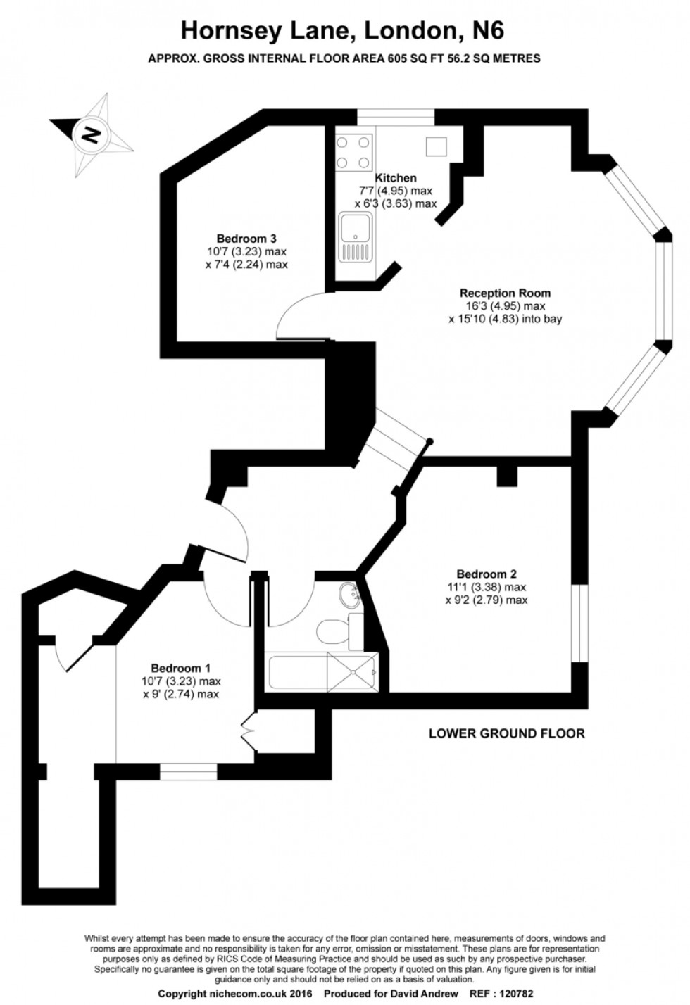 Floorplan for Hornsey Lane, N6 5LW