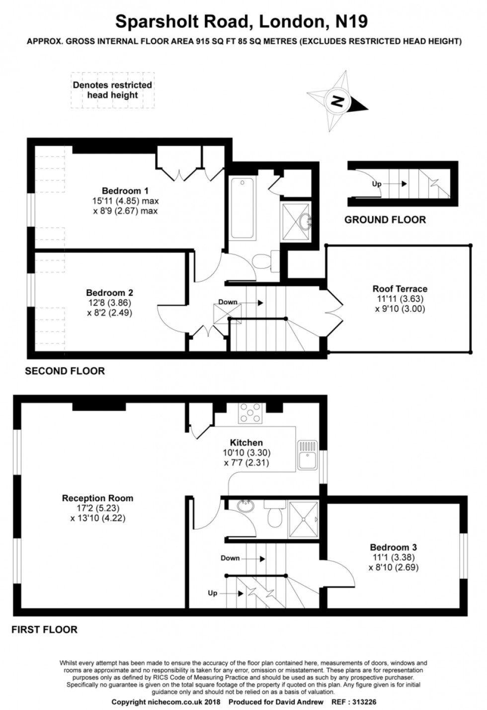 Floorplan for Sparsholt Road N19 4EL