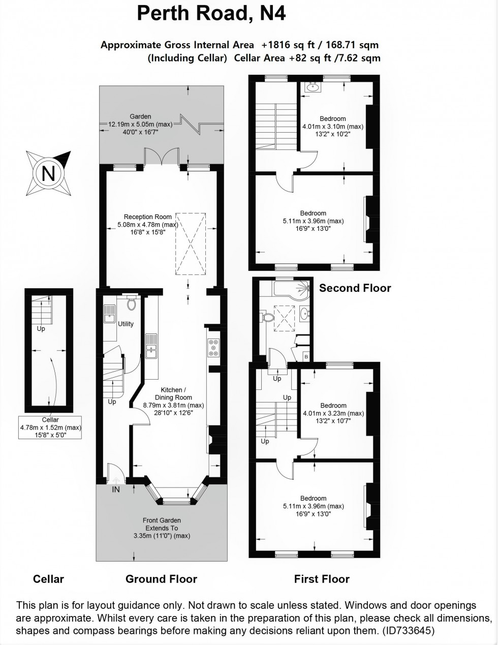 Floorplan for Perth Road, N4 3HB