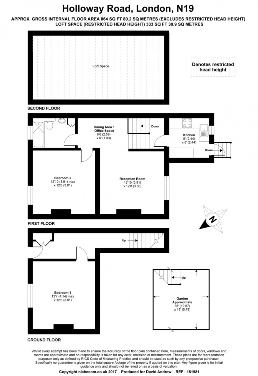 Floorplan for Holloway Road, Upper Holloway N19 4DD