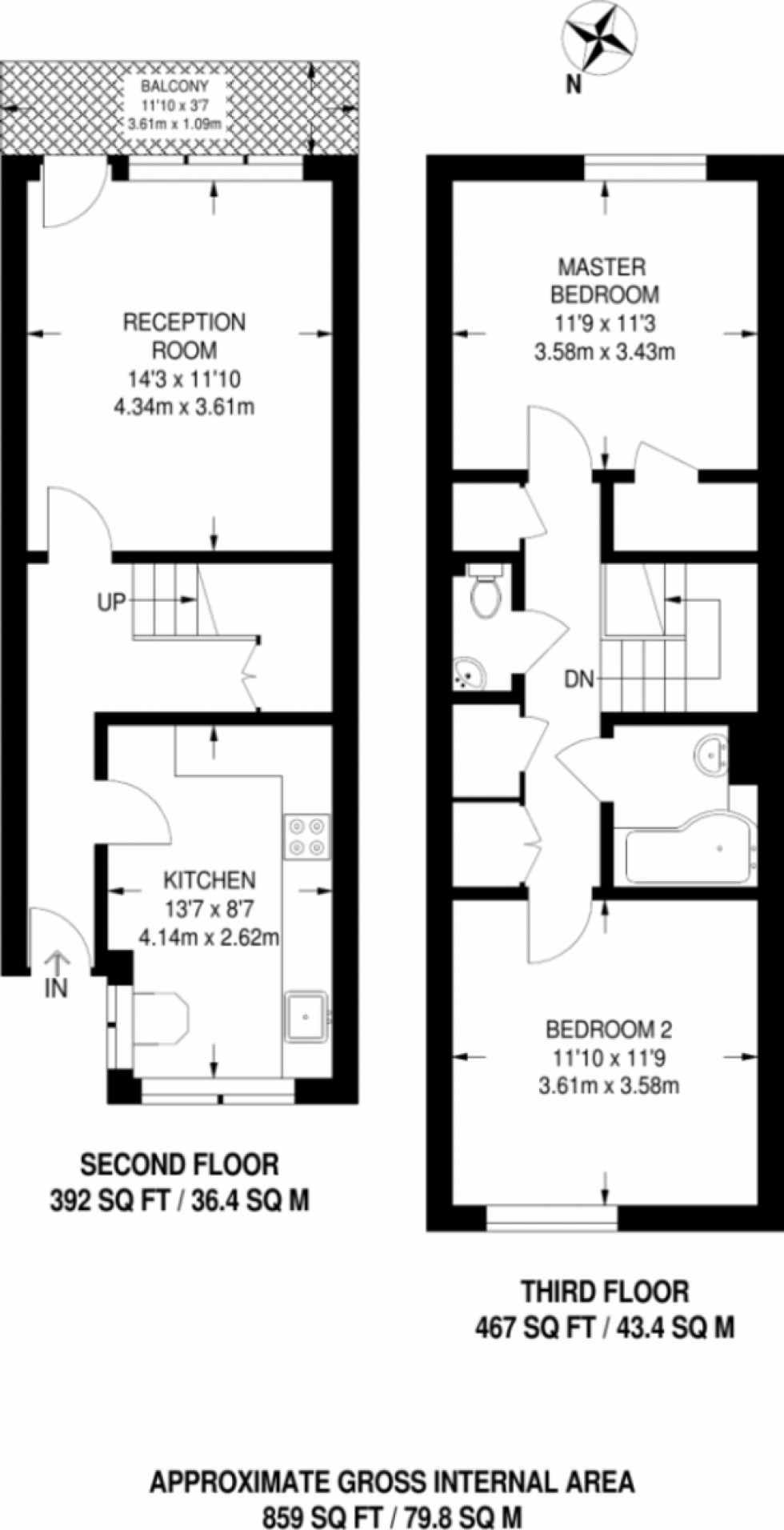 Floorplan for Holland Walk, N19 3XU