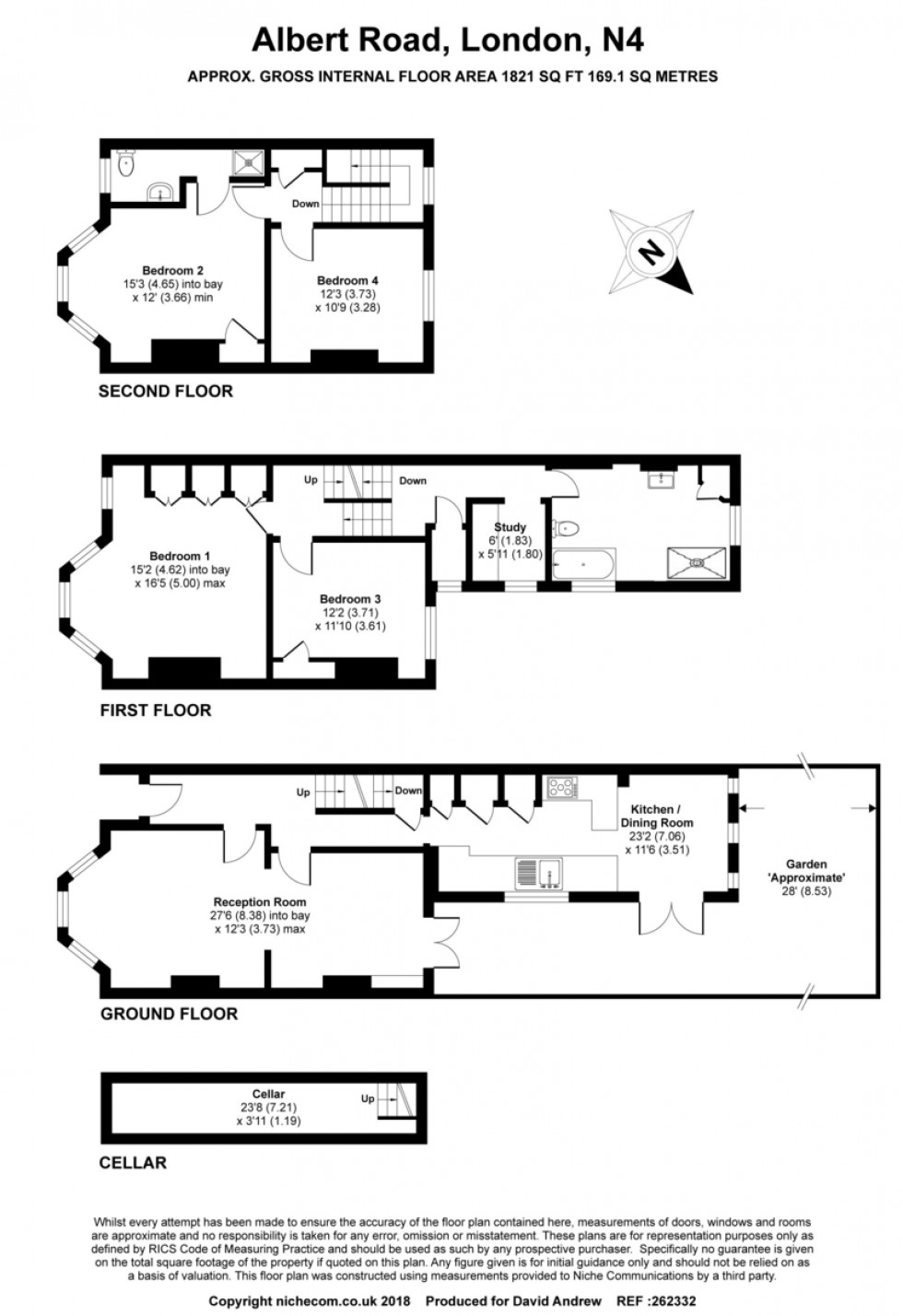 Floorplan for Albert Road N4 3RW