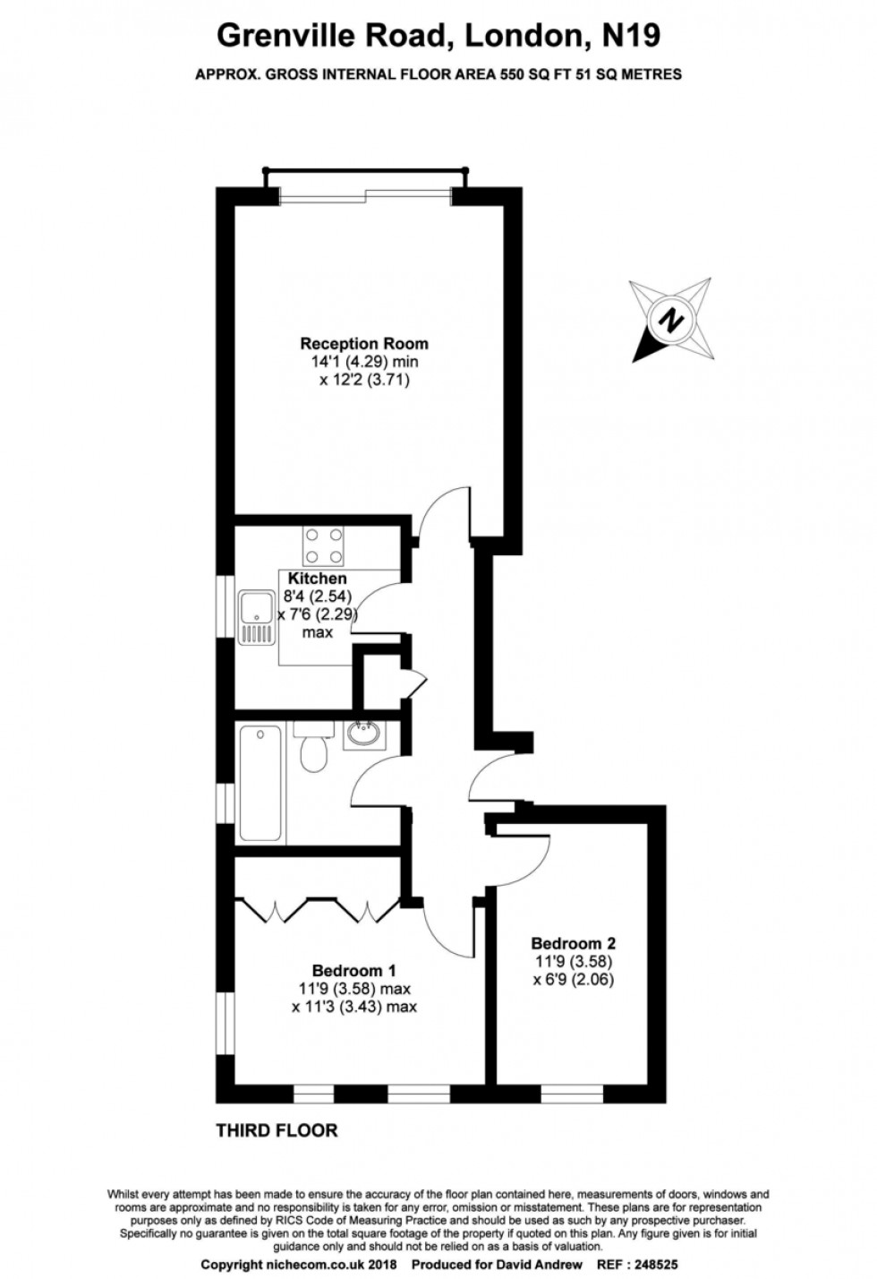 Floorplan for Grenville Road N19 4EH
