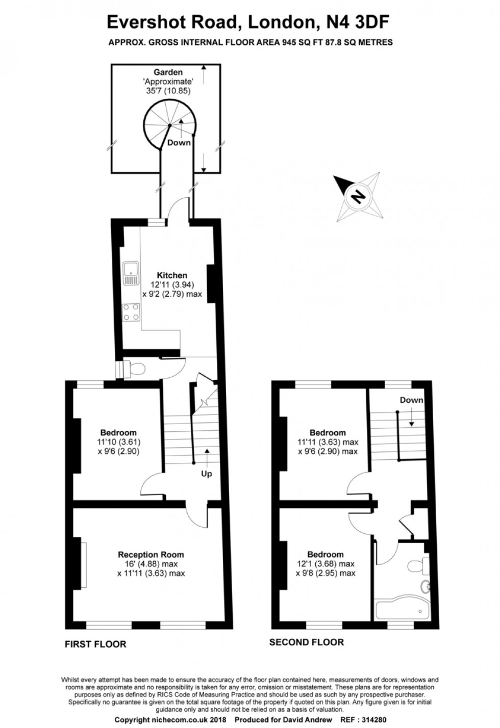 Floorplan for Evershot Road N4 3DF