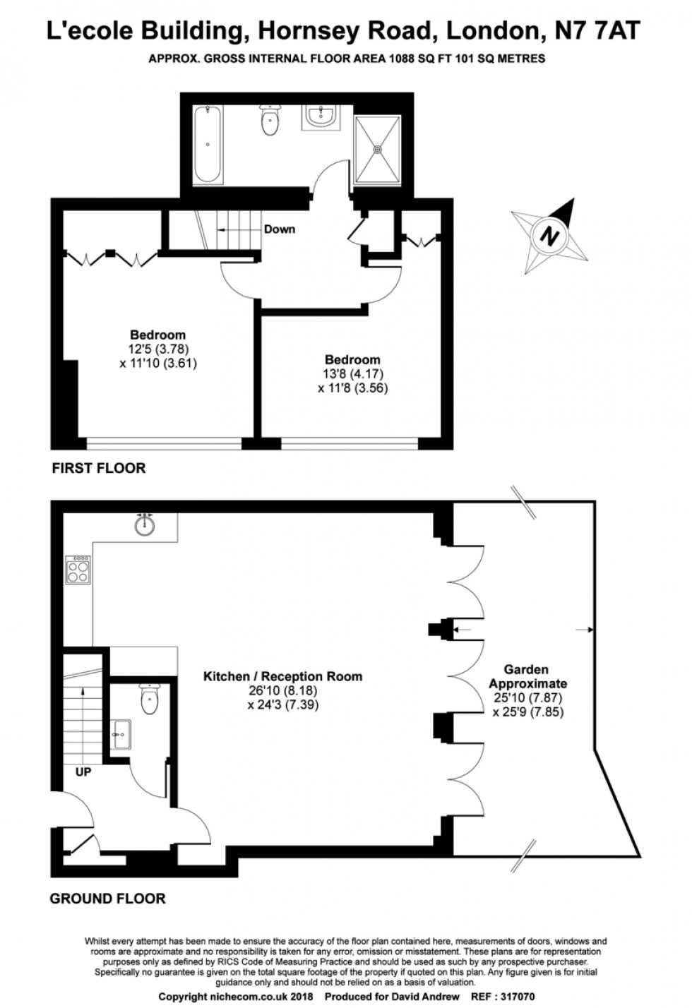 Floorplan for Hornsey Road, N7 7AT