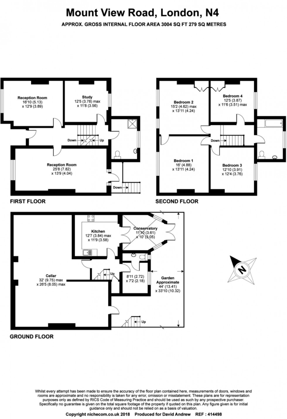 Floorplan for Mount View Road, London