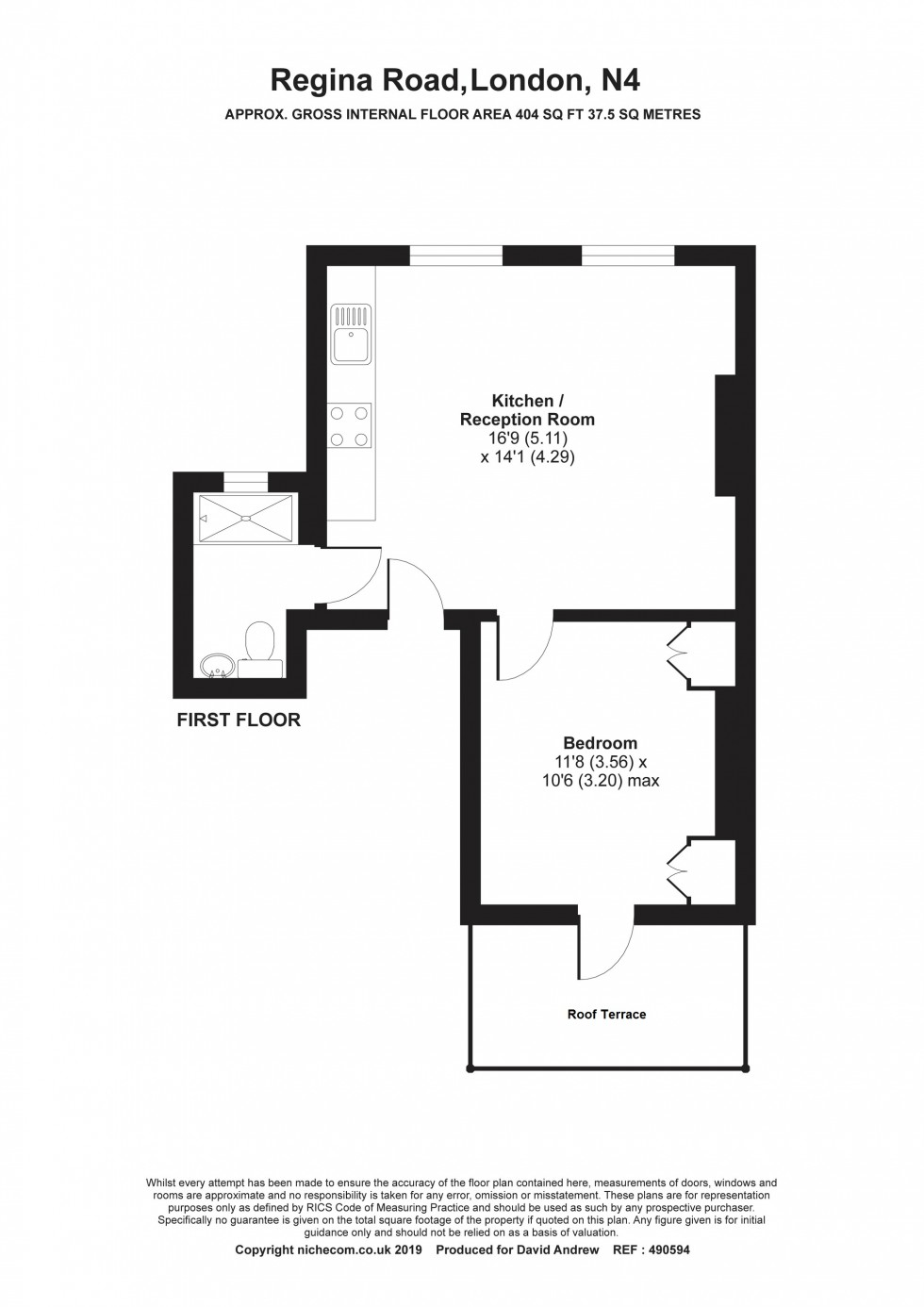 Floorplan for Regina Road N4 3PT