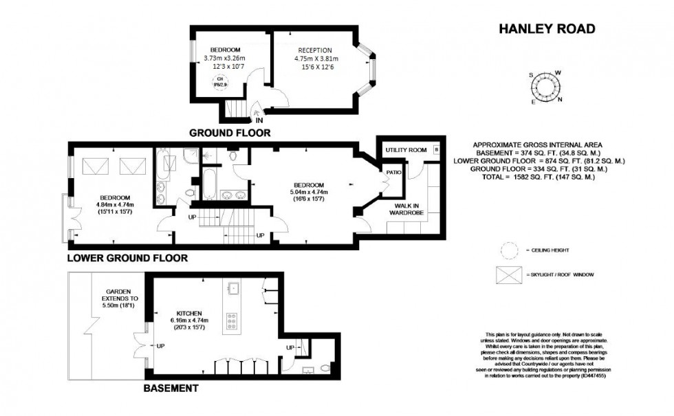 Floorplan for Hanley Road N4 3DR