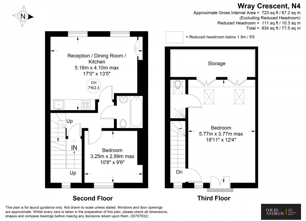 Floorplan for Wray Crescent, London