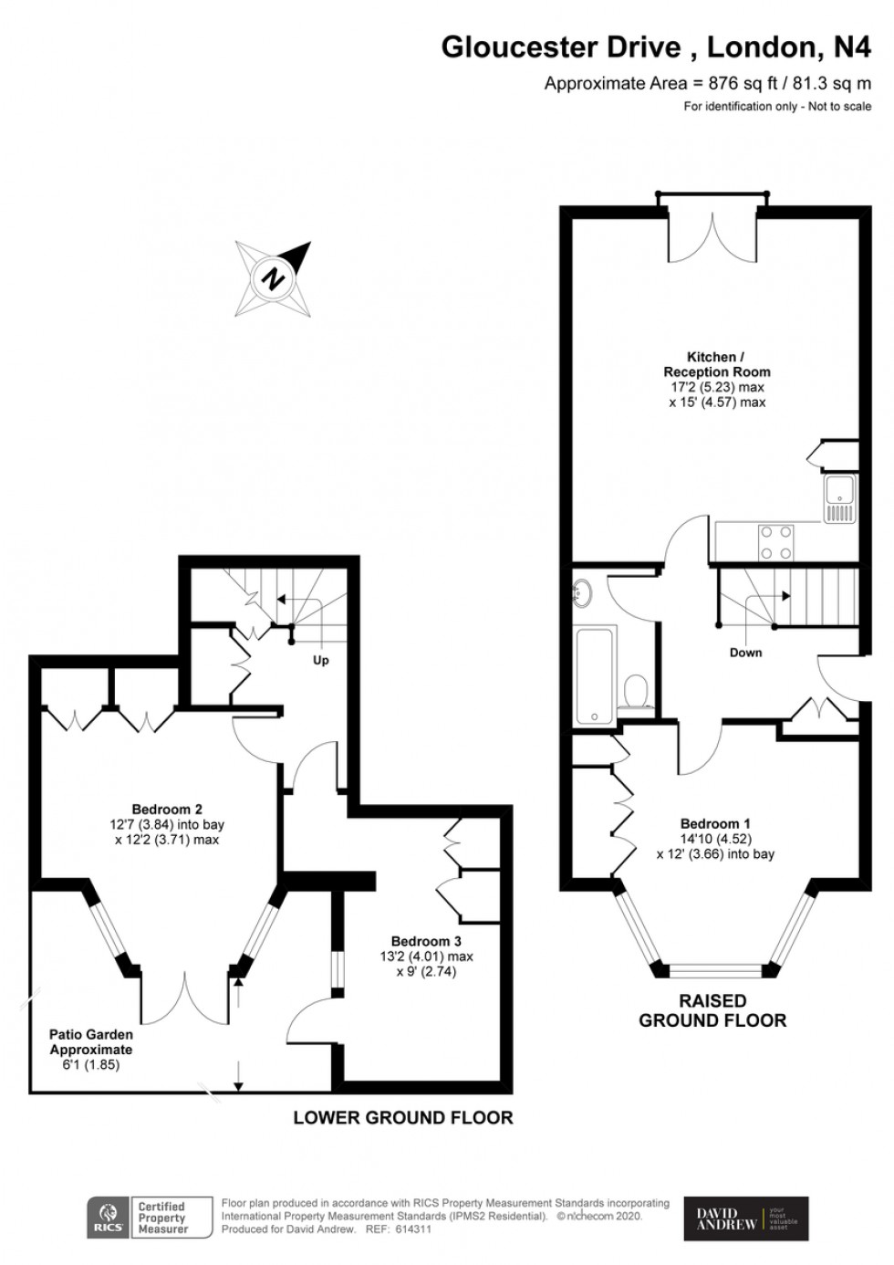 Floorplan for Gloucester Drive, N4 2LE